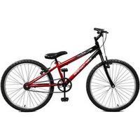 Bicicleta Quadro 24 Masculina Aço Carbono Ciclone Master Bike - Vermelho e Preto