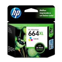 Cartucho de Tinta HP 664XL Ink Advantage F6V30AB Colorido