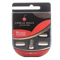 Unhas Postiças Cereja Nails Premium Dourado