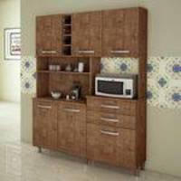 Armário para Cozinha 6 Portas 2 Gavetas Ômega Kaiki Móveis Ipê