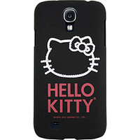 Capa para Celular Case Mix Galaxy S4 Hello Kitty Cristais Policarbonato Preta