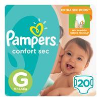 Fralda Pampers Confort Sec Pacotão Tamanho G 20 Unidades