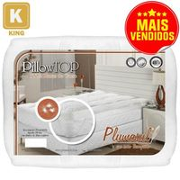 Pillow Top King Plumasul Pluma de Ganso