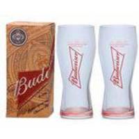 2 Copos De Cerveja Budweiser 400ml - Caixa Individual
