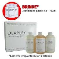 Olaplex Kit Salon Intro 3 Produtos 525ml Brinde 3 Unidades Passo N 3 100ml