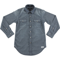 Camisa Jeans Gant The Denim Shirt Fbc Masculina Azul