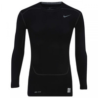 Camisa de Compressão Manga Longa Nike Core Top 2 Masculina Preta ... e8332dac3192f