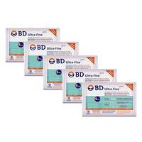 Seringa de Insulina BD Ultra-Fine 100U 6mm 10 Unidades 5 Pacotes