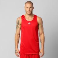 Camiseta Regata Adidas Reversível Team Masculina Vermelha  dfb324d4e03