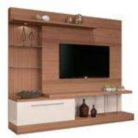 Estante Home Theater Allure Nature/off White Hb Móveis