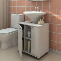Gabinete para Banheiro Branco Politorno 2 Portas