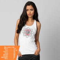 Camiseta Regata Corinthians Mandala Feminina Branca  61b5112b383ba