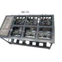 Fogão Industrial Metal brey 6 Bocas Baixa Pressão 30x30 Centro Cozinha Com Chapa