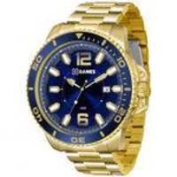 Relógio Masculino X-Games XMGS1019 D2KX Analógico Dourado/Azul de Aço