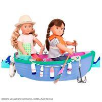 Acessórios Para Bonecas Our Generation Barco A Remo E Conjunto De Pesca