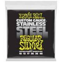 Encordoamento Para Guitarra Ernie Ball 010 Stainless Steel 2246