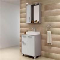 Gabinete Para Banheiro Com Espelheira Lux 60 Balcony Supremo e Connect