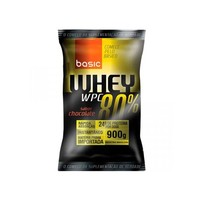 Suplemento Basic Nutrition Whey Protein WPC 80% Baunilha 900g