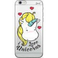 Capa Capinha para Celular Iphone 6 Plus - Spark Cases - Transparente - Unicornio