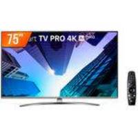Smart TV LED Pro 75 4K LG 75UM751C0SB.AWZ Conversor Digital