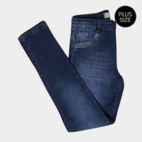 Calça Jeans Cigarrete Biotipo Estonada Cintura Alta Plus Size Feminina - Feminino