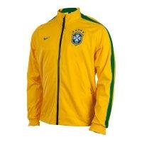 Jaqueta Nike N98 Cbf Anthem Trk Jkt Masculina Amarela  54946b835ec7a