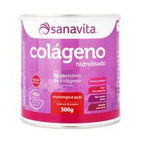 Suplemento Sanavita Colágeno Morango e Açaí 300g