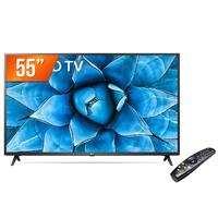 Smart TV LED 55 4K UHD LG 55UN731C 3 HDMI 2 USB Wi-Fi Assitente Virtual Bluetooth