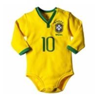 cc5e5c1461 Body Oficial Brand Seleção Brasileira Camisa I Manga Longa Amarelo ...