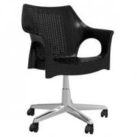 Cadeira Relic Office com Rodízio Cromado Preto