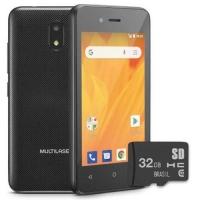 Smartphone Multilaser MS40G P9092 Desbloqueado 8GB Android 8.1 Preto + Microsd 32G