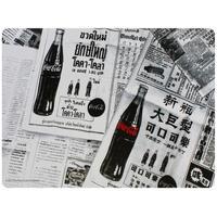 Jogo Americano e Porta-copos Coca-Cola Newspaper 4 Peças