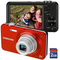 Câmera Digital Samsung ST90 14.2MP Laranja + Cartão 2GB