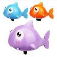 Peixe Natação Do Tubarão Animal Clockwork Wind-up Brinquedos Piscina Bath Toy Bath Desenhos Animados Plástico