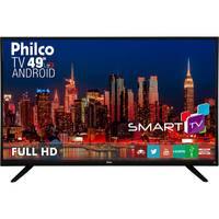 Smart TV LED 49'' Philco PH49F30DSGWA Preta