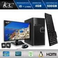 Computador Icc Iv2541km19 Intel Core I5 3.10 Ghz 4gb HD 500gb Kit Multimídia Monitor Led 19,5