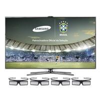 TV Smart LED 3D 46 Samsung UN46ES7000 Conversor Integrado Comando de Voz + 4 óculos