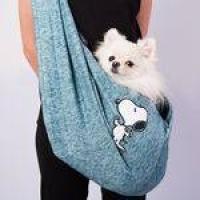 Bolsa de Transporte Para Gato Cachorro Pequeno Sling Verde Snoopy Zooz Pets