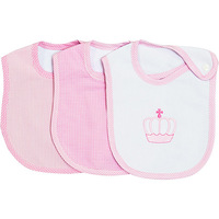 Trio de Babadores First Steps Princesa Rosa