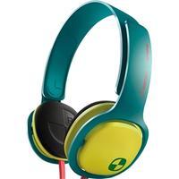 Fone de Ouvido Philips ONeill Cruz SHO3300ACID/00 Verde e Amarelo