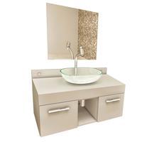 Gabinete para Banheiro VTEC Rigel com Cuba e Espelho 40x70x35cm