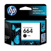 Cartucho de Tinta HP Ink Advantage 664 F6V29AB Preto