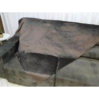 Manta para sofá decorativa Veludo liso 1,40mt x 1,70mt Marrom