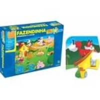 Quebra-Cabeça Gigante Aprendendo A Contar Na Fazendinha - Abc Brinquedos
