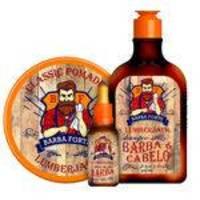 Barba Forte Lumberjack Kit Shampoo + Óleo Para Barba + Classic Pomade