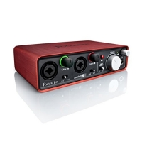Interface de Áudio Usb Focusrite Scarlett 2i2 2 Geração c/ 2 in/2 out