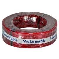 Cabo Cristal 2x12 2 50mm 100 Metros Vermelho Visioncable