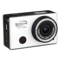 Câmera de Ação Sport Cam NewLink Wi-Fi FS101 8MP Prata