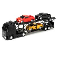 Caminhão Diamond Roma Truck Cegonheira 3 Pick-Ups Preto