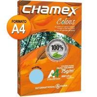 Papel Sulfite International Paper A4 Chamex Colors Azul 500 Folhas